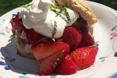A Health-ier Strawberry Shortcake (featuring spelt and millet biscuits)
